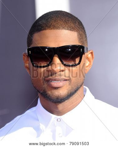 LOS ANGELES - AUG 24:  Usher arrives to the 2014 Mtv Vidoe Music Awards on August 24, 2014 in Los Angeles, CA
