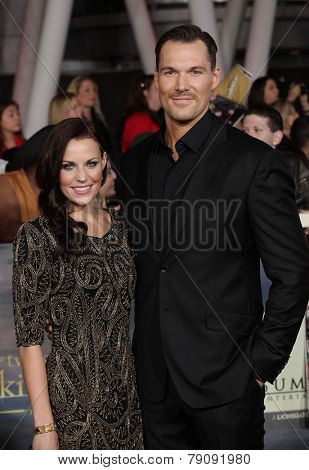 LOS ANGELES - NOV 11:  Daniel Cudmore & Date arrives to the