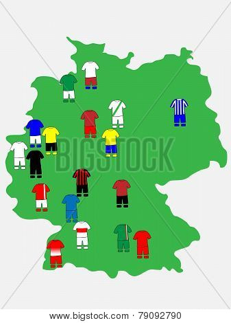 German League Clubs Map 2013-14