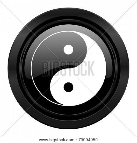ying yang black icon