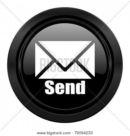 send black icon post sign