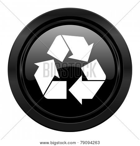 recycle black icon recycling sign