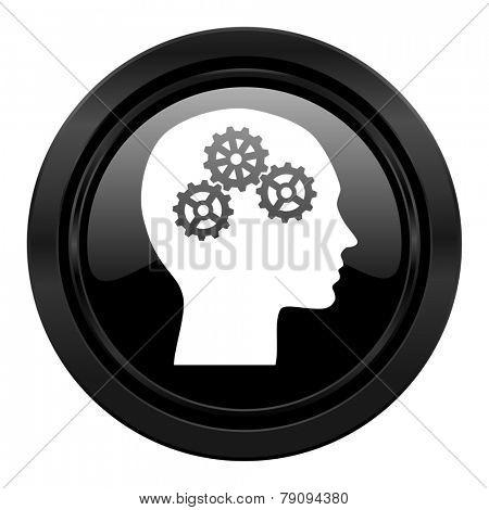 head black icon human head sign