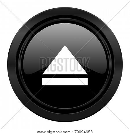 eject black icon open sign