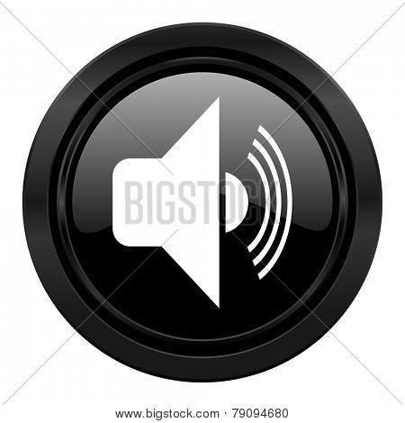 volume black icon music sign