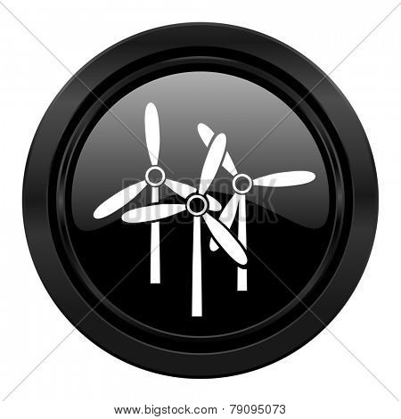windmill black icon renewable energy sign