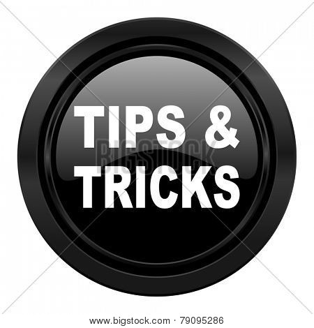 tips tricks black icon