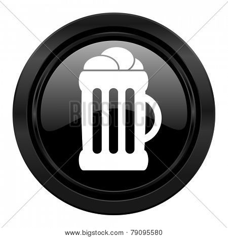 beer black icon mug sign