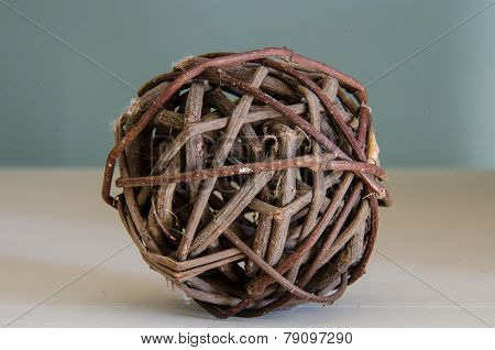 Brown Wicker Ball