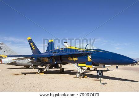 Blue Angle F A - 18A Hornet