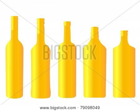 Different Kinds Of Golden Spirits Bottles
