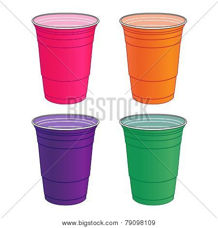 Party Cups In Pastel Colours