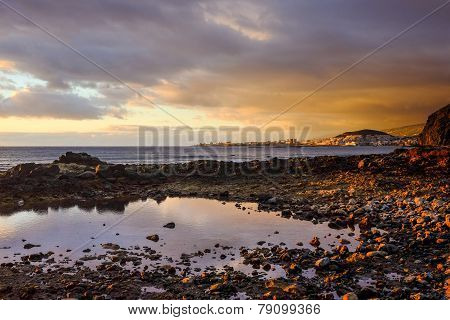 Las Americas In Canary Island - Beach At Sunset