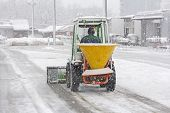 Постер, плакат: Snow Plow Removing Snow