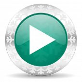 picture of christmas song  - play green icon - JPG