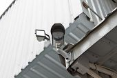 image of cctv  - CCTV security camera at the wall - JPG