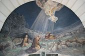 picture of bethlehem  - Angel of the Lord visited the shepherds and informed them of Jesus - JPG