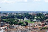 picture of emanuele  - Rome aerial view from Vittorio Emanuele monument. Italy.