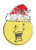 picture of sad christmas  - Illustration of christmas cartoon face emotions on white - JPG