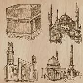 picture of freehand drawing  - Famous places and ARCHITECTURE around the World  - JPG