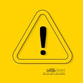 foto of hazardous  - Exclamation mark icon - JPG