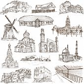 foto of freehand drawing  - Famous places and Architecture around the World  - JPG