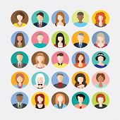 pic of avatar  - Big set of avatars profile pictures flat icons - JPG