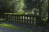 stock photo of balustrade  - Moss - JPG