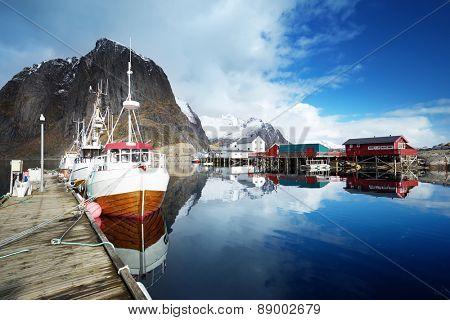 boats, Lofoten islands, Norway