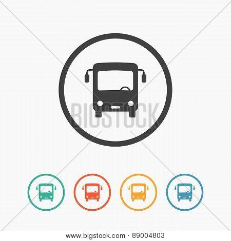 Minimalistic simple bus icon. Vector