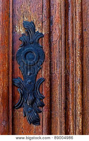 Detail Of A Medieval Wooden Door 4