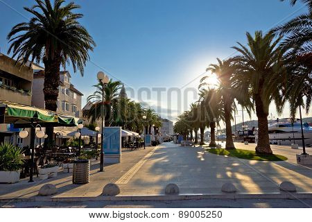 Town Of Trogir Waterfront Sunrise View