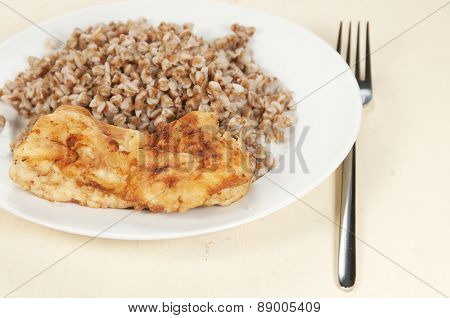 Chicken Meat With Buckwheat Kasha