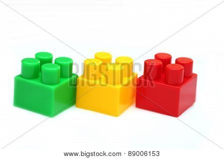 Lego Pieces Green Yellow And Red