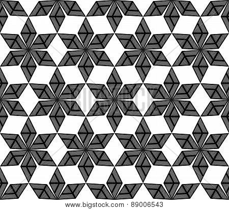 Design Seamless Monochrome Diamond Decorative Pattern
