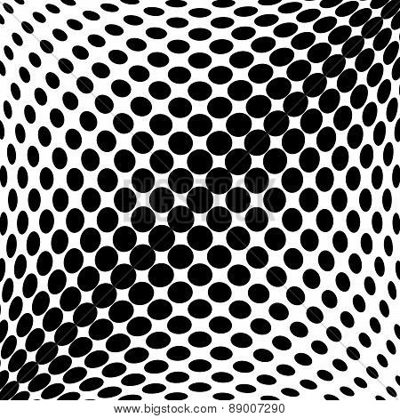 Design Monochrome Dots Background