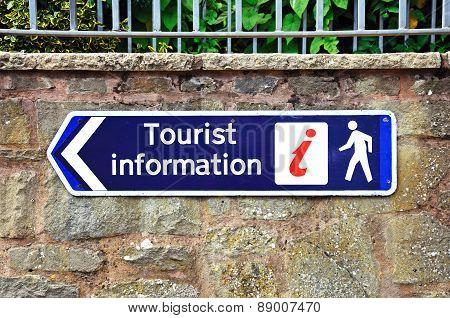 Tourist information sign, Leominster.