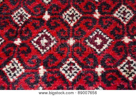 Detail pattern wool carpet handmade