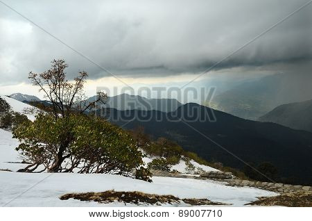 Storm Clouds Over The Mountains