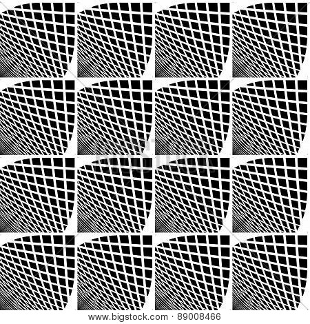 Design Seamless Monochrome Checked Geometric Pattern