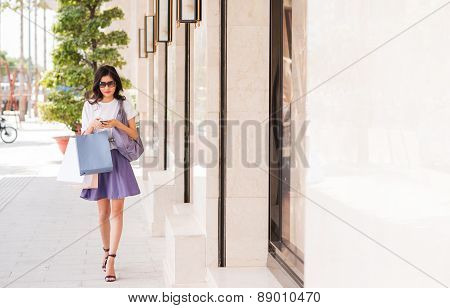 Shopping in town