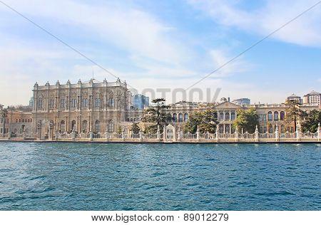 Dolmabahce Palace Near Bosphorus In Istanbul, Turkey