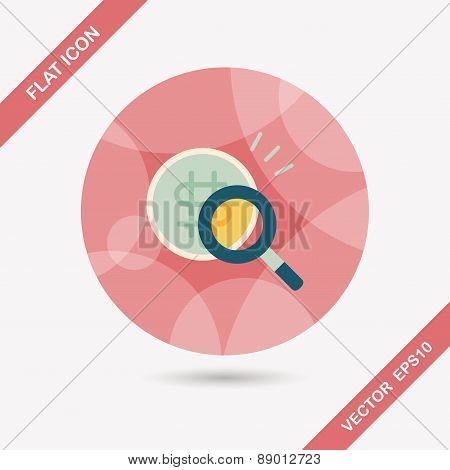 Find Money Flat Icon With Long Shadow,eps10