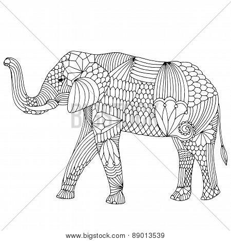 Fantasy patterned elephant