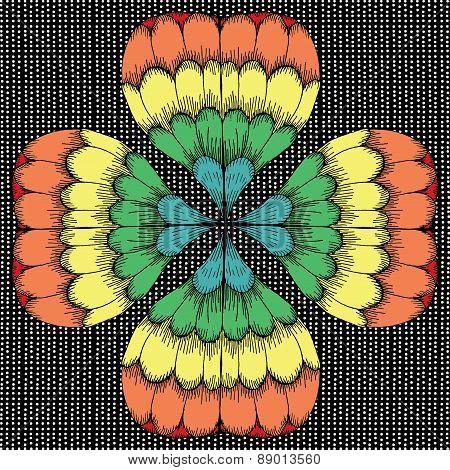 Vivid clover illustration
