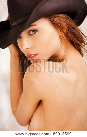 Mysterious Beauty In Hat.