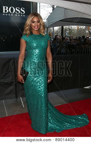 NEW YORK-APR 21: Actress Laverne Cox attends the 2015 Time 100 Gala at Frederick P. Rose Hall, Jazz at Lincoln Center on April 21, 2015 in New York City.