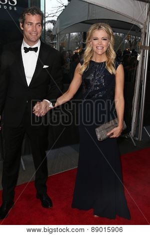 NEW YORK-APR 21: TV personality Megyn Kelly (R) and husband Douglas Brunt attend the 2015 Time 100 Gala at Frederick P. Rose Hall, Jazz at Lincoln Center on April 21, 2015 in New York City.