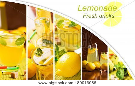 Collage From Photos Of Lemonade