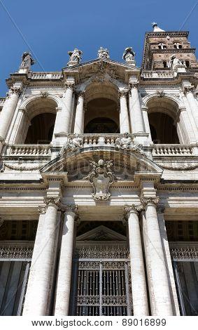 Santa Maria Maggiore Facade In Rome